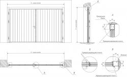 Распашные противопожарные ворота EI60